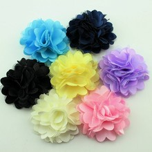 10pcs/lot Handmade 10mm Satin Rose Ribbon Rosettes Fabric Flower DIY Wedding Decor Bow Appliques Craft Sewing Accessories(China)