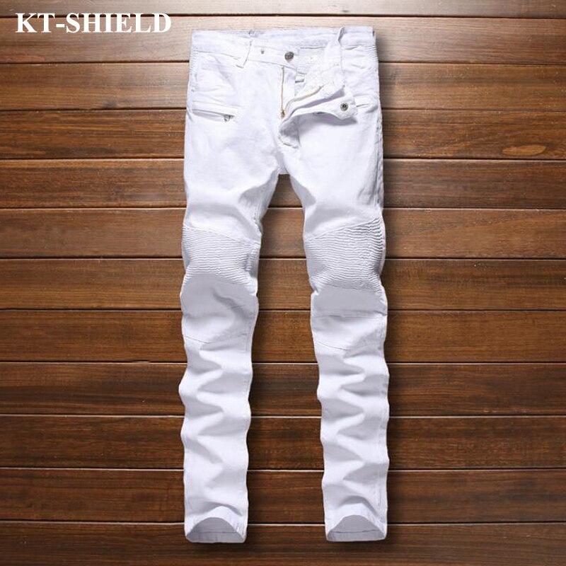 Famous Brand Jeans Men 2017 White Fashion Biker Denim Trousers Men Vaqueros Hombre Casual Harem Pants Cotton Mens Jeans PantsОдежда и ак�е��уары<br><br><br>Aliexpress