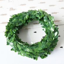 7.5meters plastic rattan grass green wire simulation green garland rattan brace Christmas decorations(China)