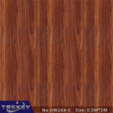0.5M*2M Brown Wood Pattern Water Transfer Printing Film HW264-S,Hydrographic film,Decorative Material(China)