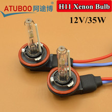 Faster start 12V/35W H11 Xenon Bulb For Car Headlight Fog lamp Projector Lens replacement 5500K 3000k  6000k