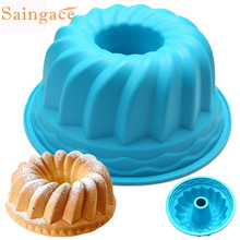 2017 Creative Novel Practical Silicone Ring Shaped Cake Pastry Bread Mold Mould Kitchenware 3Colors 10
