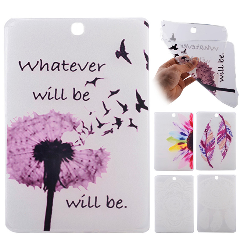 For Samsung Galaxy Tab A 9.7 Case Luxury Flower Feather Print Soft TPU Silicone Phone Cases For Hoesje Samsung Tab A 9.7 SM-T555<br><br>Aliexpress