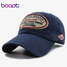 [boapt] unisex breathable cotton patch retro women hat casual hip hop hats summer brand baseball cap female snapback men's caps(China)
