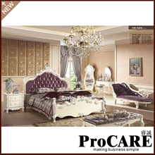European style bedroom set noble chaise longue 1.8m bed(China)