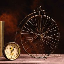 Shabby Chic Metal Bicycle Antique Clock Vintage Home Decor Resin Crafts Retro Table Clock