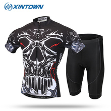 XINTOWN Summer Cycling Jersey Skeleton 2017 New Team Bicycle Bike Breathable Cycling Clothing Ropa Ciclismo Bicicleta Maillot(China)