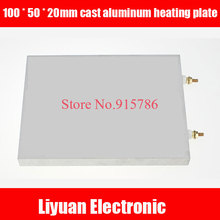 100 * 50 * 20mm cast aluminum heating plate / electric hot board / aluminum alloy heating plate / high temperatureheating board(China)