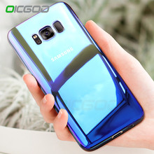 OICGOO Gradient Blue-Ray Light Case For Samsung Galaxy S8 S8 Plus Case Accessories Full Cover For Samsung S8 Plus S8 Phone Case(China)