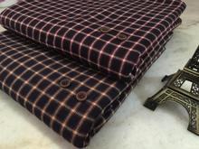 pf41 Sanded Cotton fabric cloth textile tartan winter coat fabric retail or wholesale by the meter(China)