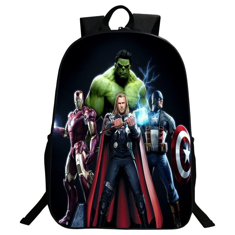 Wholesale 2017 New Style Polyester 16 Inch Prints Cartoon Avengers Boys School Bags for Teenagers Backpacks for Children Gifts<br><br>Aliexpress
