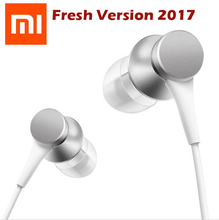 Newest 2017 Original Xiaomi mi Piston 3 Fresh version Earphone with Mic Earbud wire control earphones Headset for mobile phone