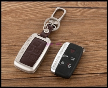 High Grade Zinc alloy Leather Car Key Case Bag For Land Rover RANGE ROVER SPORT Evoque Freelander 2 DISCOVERY 4 Key Chain Covers