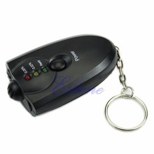 Digital LED Breath Alcohol Tester Breathalyzer Analyzer Detector Test With Keychain