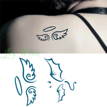 Waterproof Temporary Tattoo Sticker on body 10.5*6cm angel wings tattoo Water Transfer fake tattoo flash tattoo for girl women