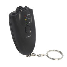 Professional Alcohol Breathalyzer Tester With Flashlight Keychain Breath Alcohol Tester(China)