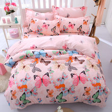 High Quality Home Textile Bedding Set Down Quilt and Pillow Set Queen Twin Kids Comforter Bedding Set Flat Bed Linen Duvet Cover(China)