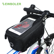 NEWBOLER Waterproof Bicycle Frame Bag Top Tube Phone Bag Mountain Bike Front Handlebar Bag for 4.0,4.8,5.7,6.0 inch Phone(China)