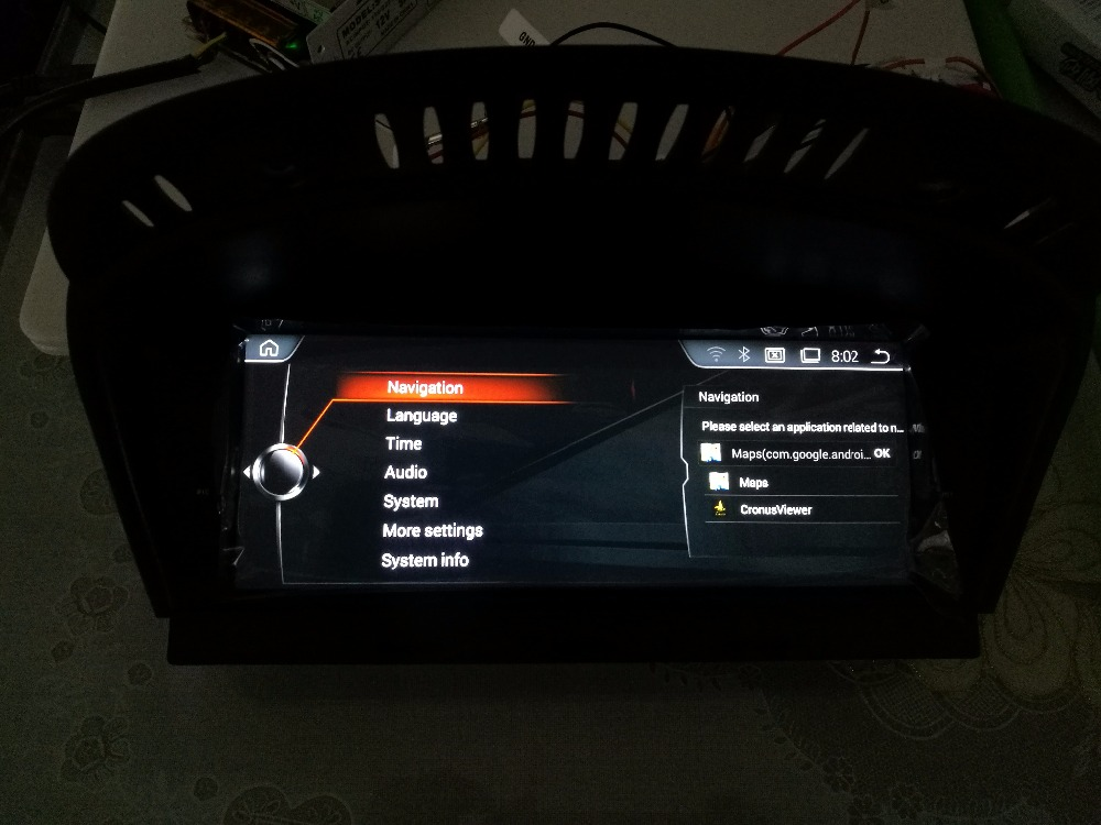BMW E60 E61 E63 E64 M5 DVD Player 8.8inch Android 4.44 Car Dvd Gps for HD1028*480 , iDrive Steering wheel support all original function