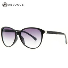 AEVOUGE Free Shipping Cat Eye Classical brand Sunglass women Good quality sun glasses Leatherette decoration Oculos UV400 AE0149(China)