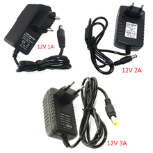 Free shipping LED Switch Power Supply Charger Adapter EU/US plug 110/220V 12V 1/2/3A For LED Strip Cabinet Light (B2,B3,B4)