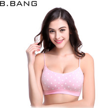 B.BANG 2017 Women's Bra Breathable Comfortable Crop Top Seamless Underwear Stretch Intimates Lovely Bras for Girls(China)