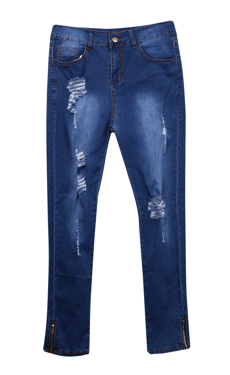 2017 new hot Sexy Women Denim Skinny Pants High Waist Stretch hole Jeans Slim Pencil Trousers USAОдежда и ак�е��уары<br><br><br>Aliexpress