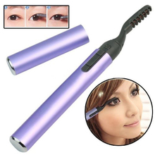 2016 Purple Portable Pen Style Electric Heated Makeup Eye Lashes Long Lasting Eyelash Curler 5W5H 7H3W 8LJ5