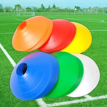 10PCS Sport Football Soccer Rugby Speed Training Disc Cone Cross Track Space Marker Outdoor Sports Cross Speed Training(China)