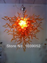 Flower Shape Chinese Style Stained Glass Lamp For House Decoration(China)