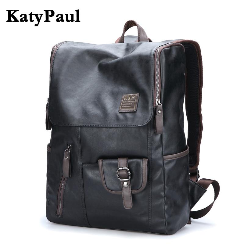 Men Casual Travel Backpack Large Capacity Waterproof School bag For Men Male Laptop Leather Fashion Mochila Backpack Male Rugzak<br>