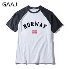 Norway Flag Man & Women Unisex T-Shirt Fashion O Neck Print Letter Northern Europe Streetwear T Shirt Men High Quality Mens New