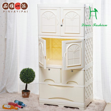 Product drawer receive ark, plastic baby store content ark wardrobe thickening children baby sorting cabinet door wardrobe(China)