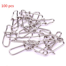 10New Stainless Steel Swivel Safety Snaps Hooks Mix Size Accessories Connector Outdoor Camping Fishing Tool - Shop store