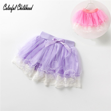 Adorable little Girls Skirts Christmas Children's Clothing cozy lace tutu Skirt For 1-5Yrs baby girls clothes summer