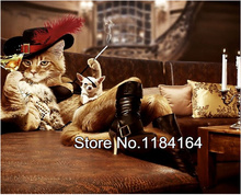 Diy Diamond Painting Cross Stitch Diamond Square Rhinestone Pasted Painting Crystal Cat with Hat and high-heeled shoes BK-857