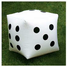 MACH 2 pcs. White Large Inflatable Dice Favors Pool Toys(China)