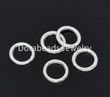 DoreenBeads 500 silver color Soldered Closed Jump Rings 6mm (B14076)(China)