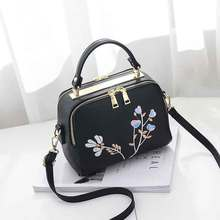 High Quality Print Flower Shop Online Women Handbags Hot Sale Cheap Lady Shoulder Document Bags Girl Black Crossbody Bags Canta