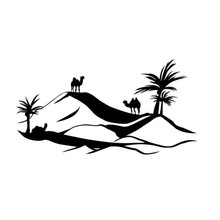 Desert Camel Wall Decal Bedroom Vinyl Hollow Out Home Decor Scenry Wall Sticker(China)