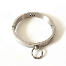 Buy stainless steel metal collar slave bdsm collar fetish wear bdsm bondage restraints neck collars adult games sex toys pordcuts