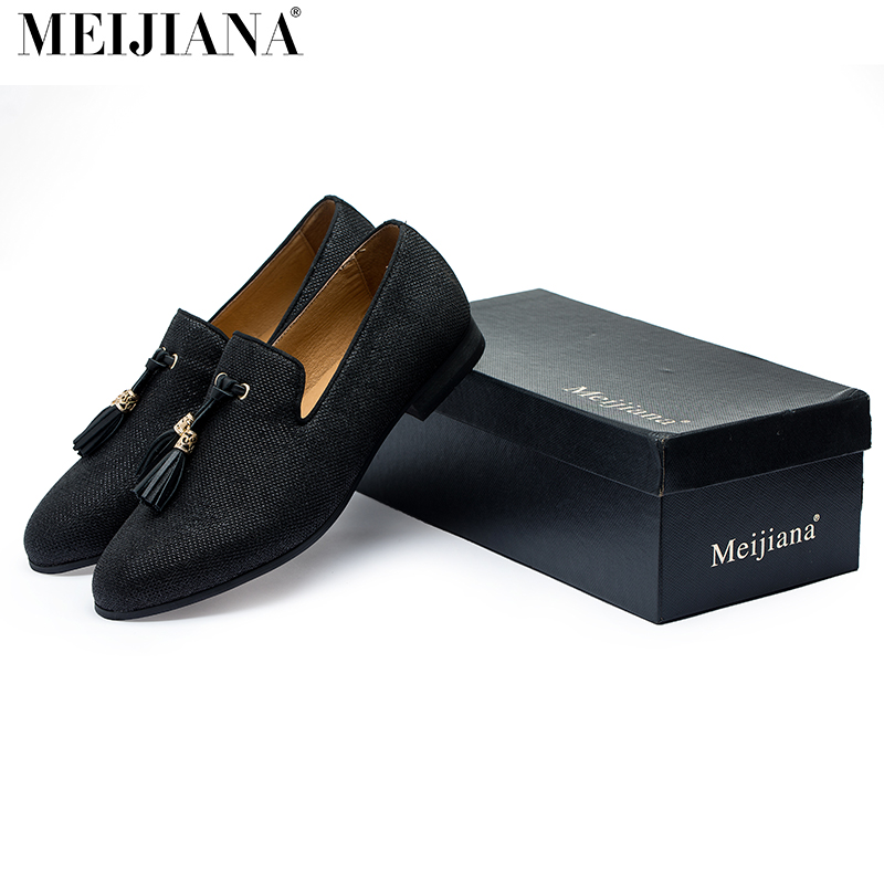 Handmade Metal fashion gold Tassel of Loafers Red ...