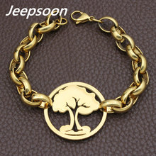 Wholesale Fashion Stainless Steel Jewelry Christmas Tree Chain Bracelet High Quality Jeepsoon BGEGAHBA