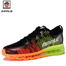 Apple men outdoor running shoes boys air sole sneakers jogging shoes male sports shoes Flying weaving high quality size 39-44(China)