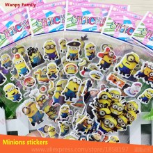 10 set/lot Despicable Me minion stickers,children's toys minion stickers,Kids Christmas Gift DIY Graffiti stickers