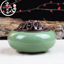 New Style Celadon Incense Burner Candles And Essential Oil Burner Home Furnishing Decoration Air Clean good quality freeshipping(China)