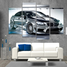 HD Printed BMW Gran Coupe Car Picture Painting Wall Art Room Decor Print Poster Canvas Art for Living Room Decoration XA373C