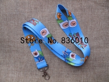 Hot Sale! 10 pcs Popular Adventure Time  Key Chains Mobile Cell Phone Lanyard Neck Straps Children  Favors SZ-205