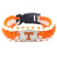 Newest Tennessee Volunteers College Football Team Paracord Survival Bracelet Friendship Outdoor Camping Bracelet 10pcs/lot(China)