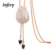 Buy 2017 New Hot Female Fashion Necklace Tulip Sweater Chain Clothing Accessories Joker Long Flower Women Gifts 1N311 for $3.33 in AliExpress store